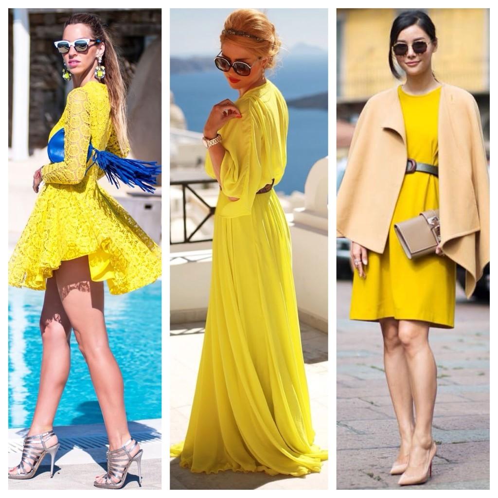 удар желтые платья как можно носить фото модели свадебных